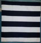 "Large Black and White Stripe Ikea Fabric Cushion Cover 14"" 16"" 18"" 20"""